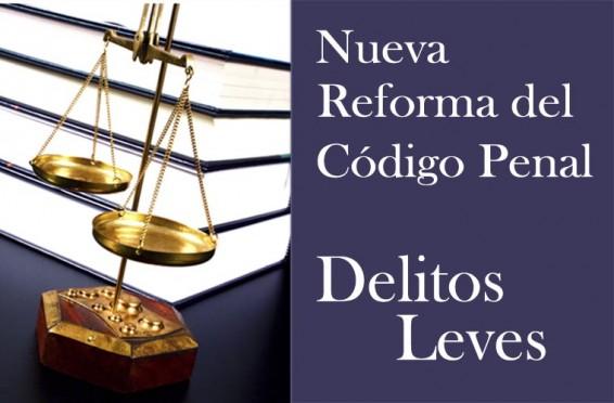 Reforma del Código Penal : Delitos Leves