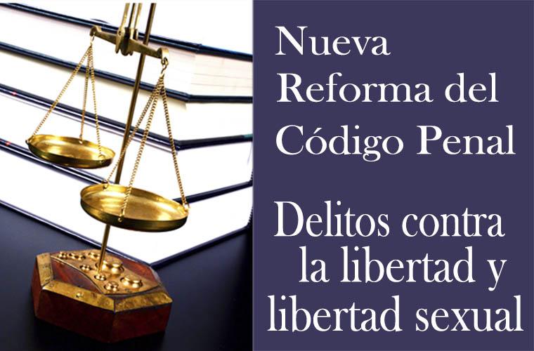 Delitos contra la libertad y libertad sexual