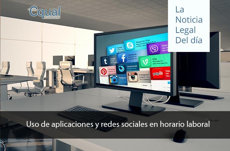 Uso de aplicaciones y redes sociales en horario laboral